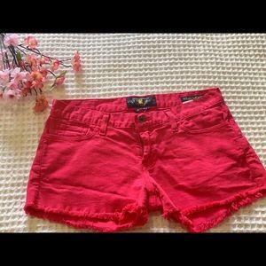 Lucky Brand Women's Pink Riley Denim Short Shorts